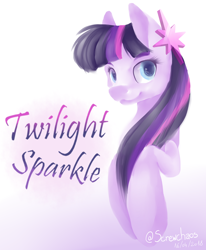 Size: 1226x1489 | Tagged: safe, artist:screwchaos, twilight sparkle, earth pony, pony, leak, spoiler:g5, bust, earth pony twilight, female, g5, mare, redesign, simple background, solo, twilight sparkle (g5)