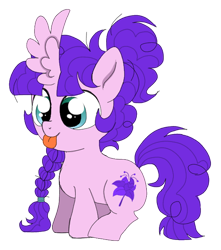 Size: 552x625 | Tagged: safe, artist:unoriginai, oc, oc only, oc:whoopsie daisy, :p, female, filly, inbred, magical lesbian spawn, offspring, parent:maud pie, parent:pinkie pie, parents:pinkiemaud, product of incest, solo, tongue out