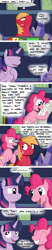 Size: 1080x5190 | Tagged: safe, artist:hoofclid, big macintosh, pinkie pie, twilight sparkle, alicorn, earth pony, comic:magic mac, comic, dialogue, eyes closed, female, male, twilight sparkle (alicorn)