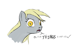 Size: 640x480 | Tagged: artist needed, safe, derpy hooves, pegasus, pony, bust, i've seen some shit, portrait, reaction image, simple background, solo, text, white background