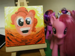 Size: 900x675 | Tagged: safe, pinkie pie, rarity, twilight sparkle, looking at you, merchandise, painting, photo, staring into your soul, toy