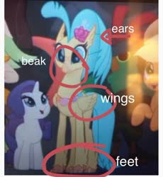 Size: 574x623 | Tagged: safe, edit, edited screencap, screencap, princess skystar, hippogriff, my little pony: the movie, april fools, circled, cropped, op is a duck