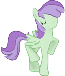 Size: 1328x1536 | Tagged: safe, artist:topsangtheman, violet twirl, pegasus, pony, eyes closed, friendship student, gameloft, pose, simple background, transparent background