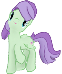 Size: 1288x1536 | Tagged: safe, artist:topsangtheman, violet twirl, pegasus, pony, friendship student, gameloft, looking at you, pose, raised hoof, simple background, transparent background