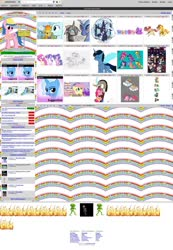 Size: 1660x2394 | Tagged: safe, applejack, braeburn, cassie, discord, firefly, fleetfoot, fluttershy, kevin (changeling), pinkie pie, rainbow dash, rarity, spitfire, tree hugger, twilight sparkle, oc, alicorn, alien, changeling, draconequus, kelpie, pegasus, pony, unicorn, derpibooru, april fools, april fools 2020, baby, female, filly, fire, male, mane six, mare, meta, stallion, twilight sparkle (alicorn), windows, windows 98