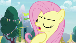 Size: 1920x1080 | Tagged: safe, screencap, angel bunny, fluttershy, she talks to angel, spoiler:s09e18, body swap