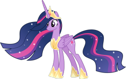 Size: 6342x4000 | Tagged: safe, artist:melisareb, twilight sparkle, alicorn, pony, the last problem, .svg available, absurd resolution, crown, female, inkscape, jewelry, mare, older, older twilight, princess twilight 2.0, regalia, simple background, solo, sparkles, transparent background, twilight sparkle (alicorn), ultimate twilight, vector
