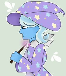 Size: 1024x1180 | Tagged: safe, artist:snowcatfnasc, trixie, equestria girls, clothes, hat, trixie's hat, witch