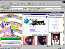 Size: 1024x768 | Tagged: safe, editor:yoshimon1, pony, derpibooru, april fools, april fools 2020, internet explorer, internet explorer 4, meta, screenshots, windows, windows 95