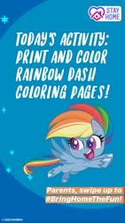 Size: 1080x1920 | Tagged: safe, rainbow dash, pegasus, pony, my little pony: pony life, coronavirus, instagram story, official, solo, text