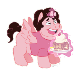 Size: 1800x1800   Tagged: safe, artist:alexyorim, pony, 2020, comparison, crossover, draw this again, ponified, redraw, steven universe, together breakfast