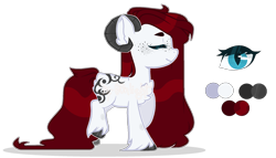 Size: 2248x1286 | Tagged: safe, artist:m-00nlight, oc, oc:akumu yume, earth pony, pony, female, horns, mare, simple background, solo, transparent background