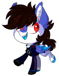 Size: 1975x2529 | Tagged: safe, artist:cloubi, oc, oc only, oc:alar, bat pony, pony, chibi, clothes, jacket, male, part of a set, simple background, solo, stallion, transparent background, ych result
