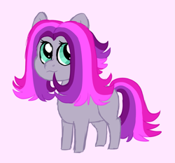 Size: 1085x1012 | Tagged: safe, artist:queenderpyturtle, oc, oc only, pony, female, filly, magical lesbian spawn, offspring, parent:pinkie pie, parent:tempest shadow, parents:tempestpie, pink background, simple background, solo