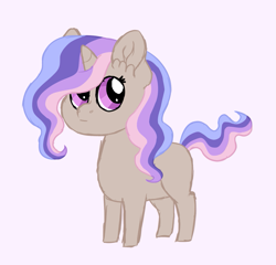 Size: 1103x1058 | Tagged: safe, artist:queenderpyturtle, oc, oc only, pony, female, filly, magical lesbian spawn, offspring, parent:princess celestia, parent:rarity, parents:rarilestia, pink background, simple background, solo