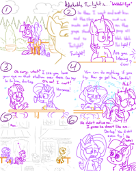 Size: 4779x6013 | Tagged: safe, artist:adorkabletwilightandfriends, rarity, twilight sparkle, oc, alicorn, pony, unicorn, comic:adorkable twilight and friends, adorkable, adorkable twilight, big eyes, cafe, chair, comic, cup, cute, doe eyes, dork, eyes on the prize, flirting, male, nervous, puppy dog eyes, sad, sad eyes, sadorable, sitting, slap, slapped, slice of life, social anxiety, spanked, spanking, stallion, support, table, twilight sparkle (alicorn), wingmare, zoning out