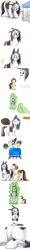 Size: 1600x13200   Tagged: safe, artist:causticeichor, oc, oc only, oc:elinvar, oc:inkenel, oc:oretha, pony, amusement ride, angry, bag, cart, comic, giant pony, growth, macro, magic, micro, roller coaster, sad, saddle bag, shrinking