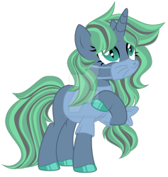 Size: 1280x1353 | Tagged: safe, artist:magicdarkart, oc, pony, unicorn, deviantart watermark, female, mare, obtrusive watermark, simple background, solo, surgical mask, transparent background, watermark