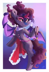 Size: 2659x3842   Tagged: safe, artist:saxopi, oc, oc only, alicorn, bat pony, bat pony alicorn, pony, bat wings, female, horn, mare, solo, wings