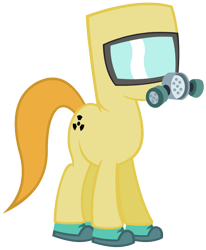 Size: 1020x1240 | Tagged: safe, pony, gas mask, hazmat suit, mask, ppe, quarantine, respirator, simple background, solo, transparent background, vector