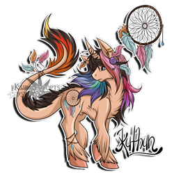 Size: 500x500 | Tagged: safe, artist:gazecreative, oc, oc only, pony, unicorn, chest fluff, dreamcatcher, ear fluff, feather, horn, horn jewelry, jewelry, leonine tail, looking back, nudity, raised hoof, sheath, simple background, solo, text, transparent background, unicorn oc, unshorn fetlocks