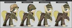 Size: 1280x512   Tagged: safe, artist:brony-works, earth pony, pony, afrikakorps, clothes, female, helmet, mare, nazi germany, solo, uniform