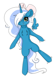 Size: 1280x1782 | Tagged: safe, artist:kireiinaa, oc, oc only, oc:fleurbelle, bipedal, blushing, bow, chest fluff, cute, female, hair bow, hair over one eye, mare, simple background, solo, transparent background, walking, wingding eyes