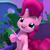 Size: 1080x1080 | Tagged: safe, screencap, pinkie pie, earth pony, hello pinkie pie, cropped, female, mare, solo, youtube link