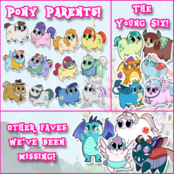 Size: 1080x1080 | Tagged: safe, artist:coggler, artist:frog&cog, artist:gopherfrog, bow hothoof, bright mac, cloudy quartz, cookie crumbles, gallus, gentle breeze, hondo flanks, igneous rock pie, night light, nurse redheart, ocellus, pear butter, pharynx, posey shy, princess ember, princess flurry heart, sandbar, silverstream, smolder, twilight velvet, windy whistles, yona, alicorn, changedling, changeling, dragon, earth pony, griffon, hippogriff, pegasus, pony, unicorn, yak, adoraquartz, adoredheart, blush sticker, blushing, bowabetes, brightabetes, chibi, chubbie, cute, diaocelles, diastreamies, dragoness, emberbetes, female, flurrybetes, gallabetes, jewelry, male, mare, necklace, nightabetes, pearabetes, pharybetes, prince pharynx, sandabetes, smolderbetes, stallion, sticker, student six, velvetbetes, waving, windybetes, yonadorable