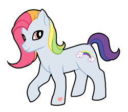 Size: 1196x1046 | Tagged: safe, artist:crannip, rainbow dash (g3), earth pony, female, g3, hoof heart, mare, raised hoof, simple background, solo, transparent background