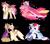 Size: 5000x4407 | Tagged: safe, artist:clay-bae, oc, oc:calypso, oc:camo feather, oc:cupid, oc:rome rose, oc:silver shield, oc:wheat field, oc:zap apple, earth pony, hybrid, mule, pegasus, pony, unicorn, absurd resolution, female, magical gay spawn, magical lesbian spawn, male, mare, offspring, parent:apple bloom, parent:applejack, parent:big macintosh, parent:diamond tiara, parent:pipsqueak, parent:prince blueblood, parent:princess cadance, parent:rainbow dash, parent:scootaloo, parent:shining armor, parents:appledash, parents:bluemac, parents:diamondbloom, parents:scootasqueak, parents:shiningcadance, simple background, stallion, tail feathers, transparent background