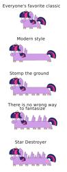 Size: 860x2204 | Tagged: safe, artist:julunis14, edit, twilight sparkle, alicorn, pony, comic, female, horn, long pony, majestic as fuck, mare, multiple horns, multiple wings, simple background, smiling, solo, spaceship, spread wings, squatpony, star destroyer, star wars, there is no wrong way to fantasize, this isn't even my final form, twiggie, twilight sparkle (alicorn), wat, white background, wide eyes, wings, xk-class end-of-the-world scenario
