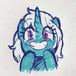 Size: 400x400 | Tagged: safe, artist:aanotherpony, oc, oc only, pony, unicorn, cute, profile picture, smiling, solo
