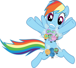 Size: 1794x1585 | Tagged: safe, artist:frownfactory, rainbow dash, parasprite, pegasus, pony, swarm of the century, .svg available, parasprite bikini, simple background, solo, svg, transparent background, vector, wings