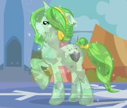 Size: 900x766 | Tagged: safe, artist:askmerriweatherauthor, oc, oc only, oc:merriweather, crystal pony, pony, unicorn, ask merriweather, crystallized, solo