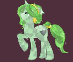 Size: 900x766 | Tagged: safe, alternate version, artist:askmerriweatherauthor, oc, oc:merriweather, crystal pony, pony, unicorn, ask merriweather, crystallized, solo