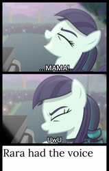 Size: 1920x3016   Tagged: safe, edit, edited screencap, screencap, coloratura, earth pony, pony, the mane attraction, bohemian rhapsody, eyes closed, female, freddie mercury, happy, meme, musical instrument, piano, ponified meme, queen (band), rara, singing, smiling, solo, song, text, the magic inside, uwu