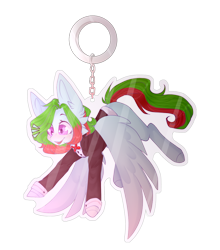 Size: 838x954 | Tagged: safe, artist:keltonia, oc, oc only, oc:precised note, pegasus, pony, alternate hairstyle, bowtie, button, chains, clothes, eyebrows, gasping, hanging, happy, keychain, large ears, looking down, merchandise, open mouth, spread wings, suit, surprised, transparent bacground, tuxedo, two toned mane, two toned tail, wings