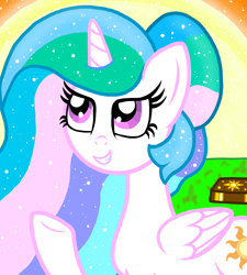 Size: 1350x1500   Tagged: safe, artist:katya, princess celestia, alicorn, book, female, past, solo, sun, young, younger