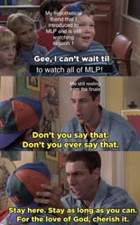 Size: 1020x1643 | Tagged: safe, adam sandler, barely pony related, billy madison, end of ponies, meme