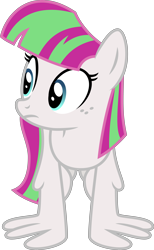 Size: 4000x6508 | Tagged: safe, alternate version, artist:melisareb, blossomforth, pegasus, pony, equestria games (episode), .svg available, absurd resolution, female, freckles, inkscape, mare, recolor, simple background, solo, transparent background, vector, wing-ups, wings
