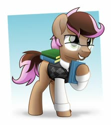 Size: 800x898 | Tagged: safe, artist:jhayarr23, oc, oc only, oc:lavender, earth pony, pony, book, clothes, glasses, male, shirt, solo, stallion, sweater vest