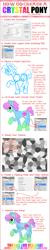 Size: 900x4500 | Tagged: safe, artist:kimikonyanchan, oc, oc only, crystal pony, earth pony, pony, earth pony oc, how to draw, raised hoof, smiling, text, tutorial