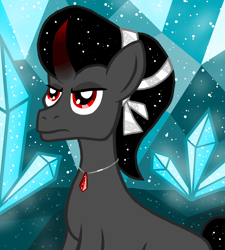 Size: 1350x1500   Tagged: safe, artist:katya, king sombra, crystal pony, pony, crystal, crystal empire, past, young, younger