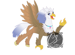 Size: 2847x2106   Tagged: safe, artist:johnathon-matthews, oc, oc:silver quill, classical hippogriff, hippogriff, g4, mount aris, obtrusive watermark, simple background, solo, transparent background, watermark