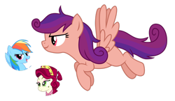 Size: 1280x744 | Tagged: safe, artist:tenderrain46, cherry jubilee, rainbow dash, oc, pegasus, pony, base used, female, magical lesbian spawn, mare, offspring, parent:cherry jubilee, parent:rainbow dash, simple background, transparent background