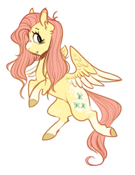 Size: 839x1085   Tagged: safe, artist:halokinnie, fluttershy, pegasus, pony, blaze (coat marking), coat markings, colored hooves, cute, ear fluff, facial markings, female, mare, profile, shyabetes, simple background, socks (coat markings), solo, two toned wings, white background, wings