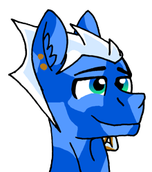 Size: 1637x1863 | Tagged: safe, artist:summerium, oc, oc only, oc:larkspur blues, crystal pony, earth pony, bust, male, portrait, sierra nevada, simple background, solo, transparent background