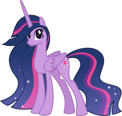 Size: 4197x4000 | Tagged: safe, alternate version, artist:melisareb, twilight sparkle, alicorn, pony, the last problem, spoiler:s09e26, .svg available, absurd resolution, inkscape, looking at you, princess twilight 2.0, solo, twilight sparkle (alicorn), ultimate twilight, vector