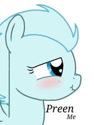 Size: 768x1024 | Tagged: safe, oc, oc:windy breeze, pegasus, pony, blushing, female, implied preening, mare, nose wrinkle, scrunchy face